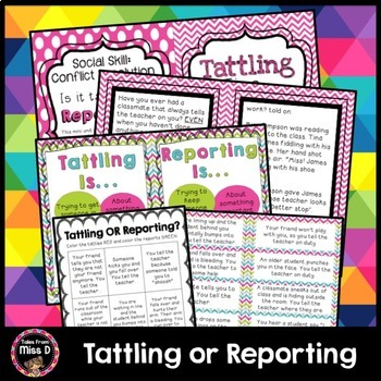 Social Skills Tattling vs. Reporting