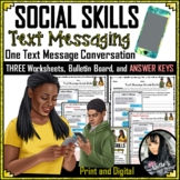 Social Skills Text Message Conversation and KEY (ONE Conve