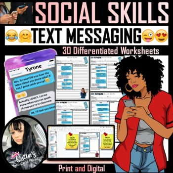 Social Skills Text Message Conversations (30 Worksheets)
