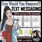 Social Skills Text Messages (40 Worksheets)