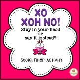 Social Skills: Valentine's Day   Think vs. Say