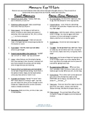 Social Skills: Top 10 Good Manners and Game Time Manners