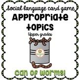 Social Skills Game: Conversation, Topic Maintenance