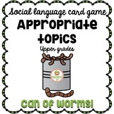 Social Skills Games Conversation Topic Maintenance