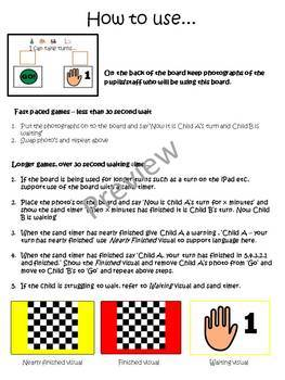 Social Skills: Turn Taking Pack - Includes Social Story, visuals and more...