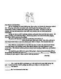 "Social Skills ""Typical Student Letter"" Template"