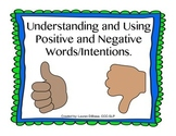 Social Skills - Understanding and Using Positive/Negative Words and Intentions