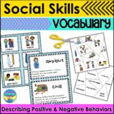 Social Skills Activities   Describing Vocabulary   Kind or Unkind Behaviors