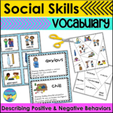 Social Skills Activities for Autism   Vocabulary for Kind or Unkind Behaviors