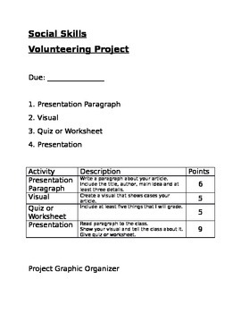 Social Skills Volunteer Project