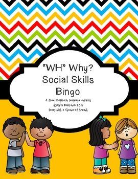 "Social Skills ""WHY?"" BINGO"