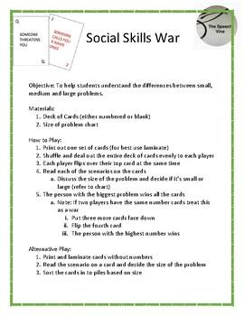 Social Skills War: Big Deal or Little Deal