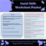 Social Skills Worksheet Packet