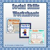 Social Skills Worksheets Bundle: worksheets & task cards t