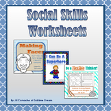 Social Skills Worksheets Bundle: worksheets & task cards t