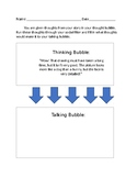 Social Skills Worksheets - Filter Thought bubble and Speech Bubble