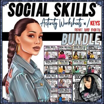 Social Skills Worksheets and ANSWER KEYS (PDF and GOOGLE SLIDES)