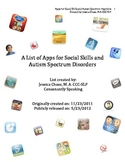 Social Skills and Autism Spectrum Disorders Application List