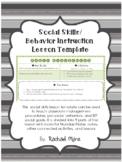 Social Skills and Behavior Instruction Lesson Plan Template