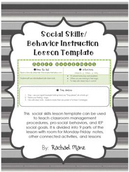 social skills lesson plan template teaching resources teachers pay