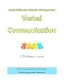 Social Skills and Behavior Management: Verbal Communication