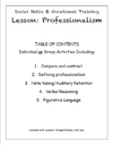 Social Skills and Professionalism