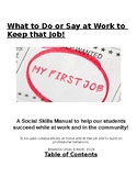 Social Skills and Stories for Job Sites (Autism) (Vocational)