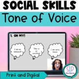 Tone of Voice Perspective Taking Sarcasm Social Skills Speech Therapy No Print