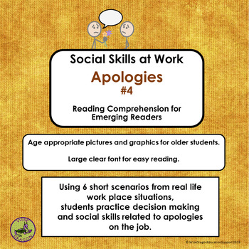 Social Skills at Work: Apologies Set 4