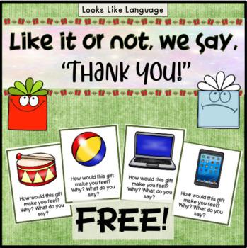 Polite Words Social Skills Activities Getting Presents Freebie