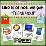 Social Skills for Getting Christmas Presents Freebie
