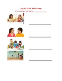 Social Skills for Low Verbal Autism Worksheet