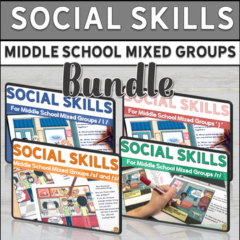 Social Skills for Middle School Mixed Groups BUNDLE!