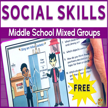 Social Skills for Middle School Mixed Groups: 'J' FREEBIE
