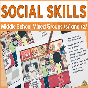 Social Skills for Middle School Mixed Groups: 'S' and 'Z'