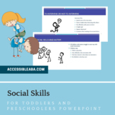 Social Skills for Toddlers and Preschoolers PowerPoint Par