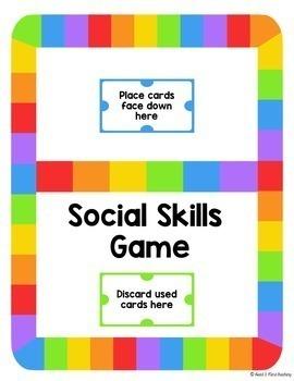 Social Skills game to encourage positive social choices