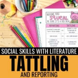 Teaching Tattling vs. Reporting: Quick prep lesson plans & printables