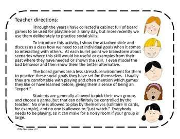 Social Skills with board games
