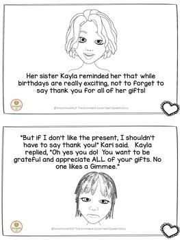 Social Speech Story Receiving Gifts