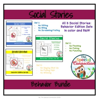 Social Stories: Behavior Edition Bundle