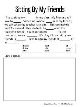 Social Stories: Behaviors in the Classroom Starter Pack