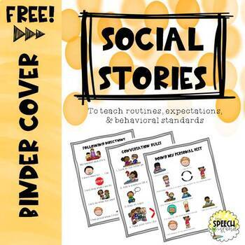 Social Stories Binder Cover **FREEBIE**