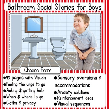 Social Stories: Boys Bathroom BUNDLE
