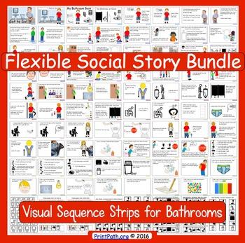 Social Stories: Boys Bathroom BUNDLE