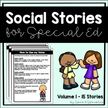 Social Stories Bundle! {15 Social Stories for Students with Special Needs}
