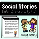 Social Stories {Pack of 15 Social Stories for Students with Special Needs}
