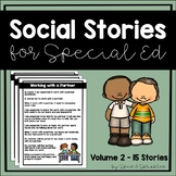 Social Stories Bundle 2! {15 Social Stories for Students with Special Needs}