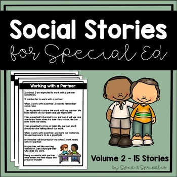Social Stories Bundle 2! {15 Social Stories for Students w
