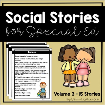 Social Stories Bundle 3! {15 Social Stories for Students with Special Needs}